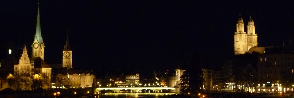 German skyline at night